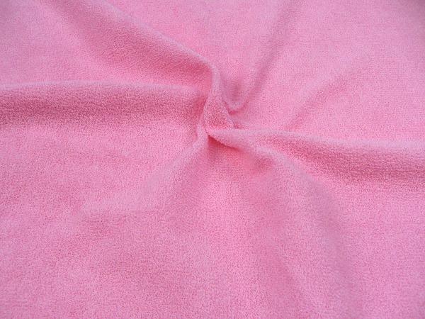 片面パイル 柔らかい手触りのベビーパイルニット ベビーピンク