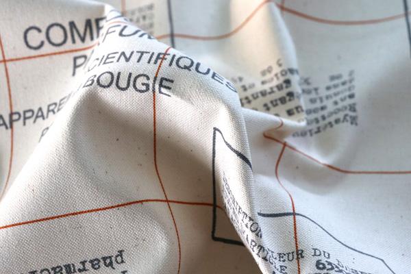 バッグなどの手芸に最適な 11号帆布 英字スタンプ風 生成