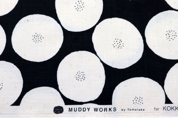 MUDDY WORKS コットンモーリークロス あんぱん 黒地×オフ