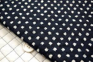 江戸ッ子オリジナル むら糸和柄のキルティング 雪紋絣