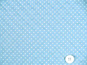 水玉模様(水玉柄・ドット柄)のキルティング生地(綿100%)水色・ライトブルー(1171-42)