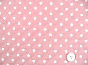 水玉模様(水玉柄・ドット柄)のキルティング生地(綿100%)かわいいピンク色(1171-46)