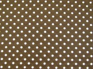 水玉模様(水玉柄・ドット柄)のキルティング生地(綿100%)茶色・ブラウン(1171-50)