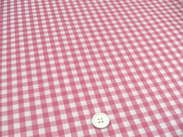 ビニールコーティング生地(ラミネート生地)定番ギンガムチェック・ピンク色(1172-31)