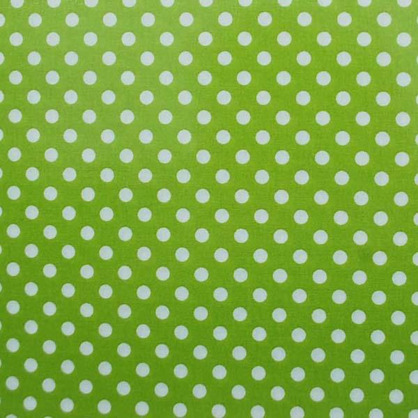 水玉のラミネート(塩化ビニールコーティングは表面のみです) 約7mm 黄緑