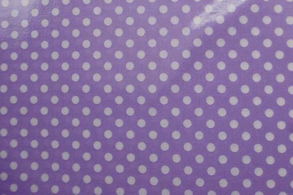 水玉のラミネート(塩化ビニールコーティングは表面のみです) 約7mm ラベンダー
