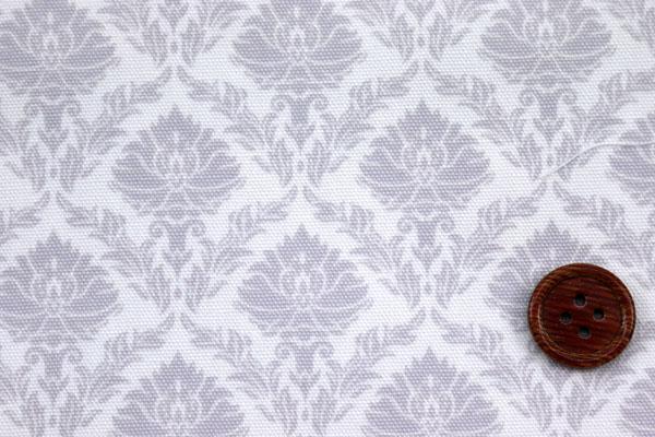 有輪商店の コットンオックスフォード ダマスク調 グレー