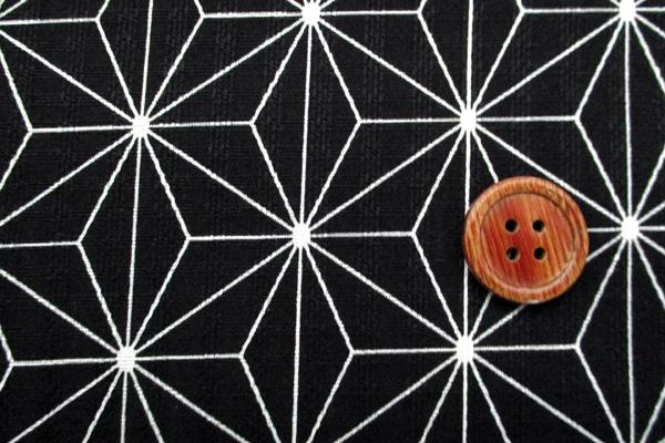 有輪商店の コットンシーチング 花舞物語 扇と格子 赤×ピンク