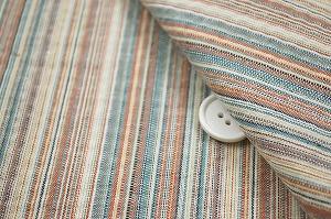 浴衣じんべいに最適な しじら織りストライプ生地 ライトベージュ地
