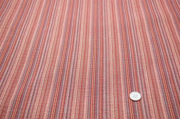 浴衣じんべいに最適な しじら織りストライプ生地 薄赤色