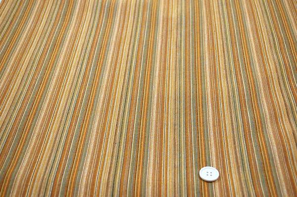 浴衣じんべいに最適な しじら織りストライプ生地 櫨染め色