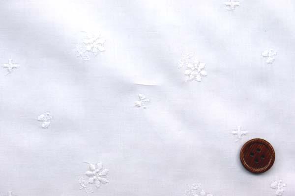 綿ローンレース 花とちょうちょ オフ白