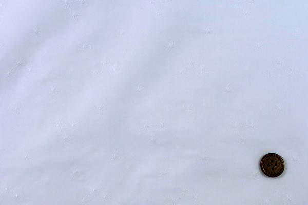 清楚で可愛い 綿ローンレース マーガレット オフ白