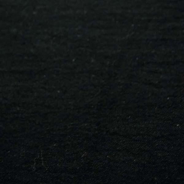 柔らかくて適度な厚さのある 綿麻キャンバス ワッシャー(洗い)加工 黒