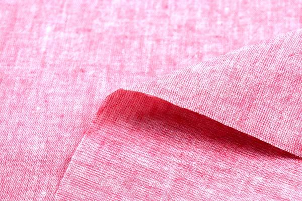 ベルギープルミエルリネン使用 ワッシャー加工のハーフリネンダンガリー 赤×オフ