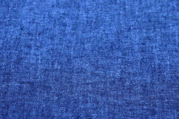 ベルギープルミエルリネン使用 ワッシャー加工のハーフリネンダンガリー 青×紺