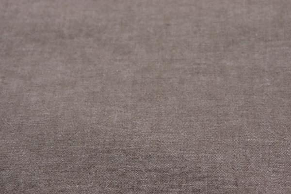 ベルギープルミエルリネン使用 ワッシャー加工のハーフリネンダンガリー 薄いベージュ×ベージュ