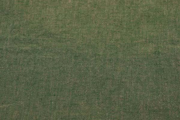 ベルギープルミエルリネン使用 ワッシャー加工のハーフリネンダンガリー カーキグリーン×ベージュ
