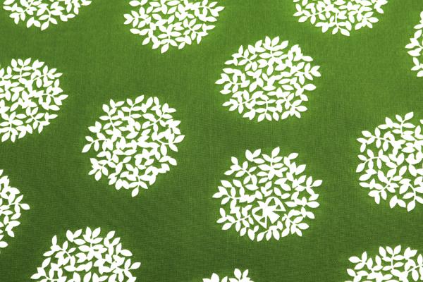 撥水ナイロンオックス 木の実 グリーン