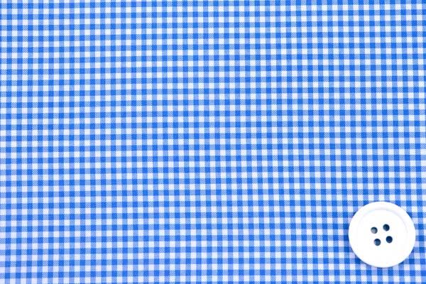 撥水加工のポリエステルタフタ ギンガムチェック 青