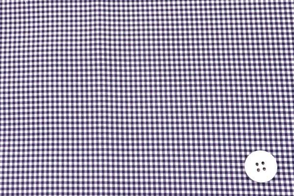撥水加工のポリエステルタフタ ギンガムチェック 紫