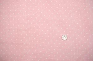 Wガーゼ(ダブルガーゼ)水玉柄(ドット柄) ピンク色(2164-51)
