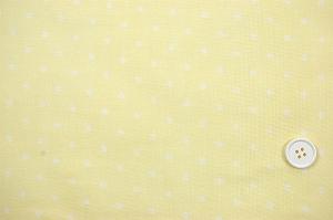 Wガーゼ(ダブルガーゼ)水玉柄(ドット柄) 黄色 イエロー(2164-53)