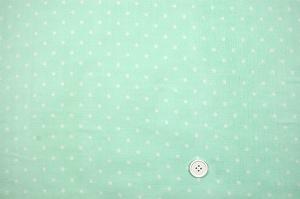 Wガーゼ(ダブルガーゼ)水玉柄(ドット柄) ペパーミント(エメラルドグリーン)(2164-54)