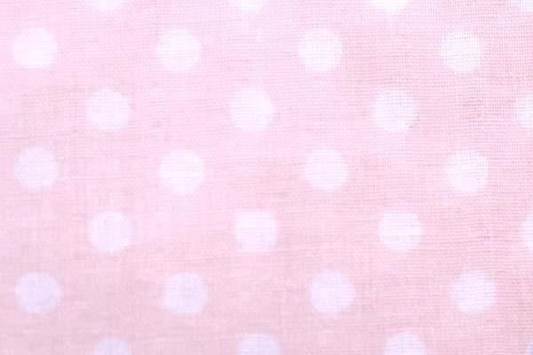 7mmの水玉のダブルガーゼ ベビーピンク