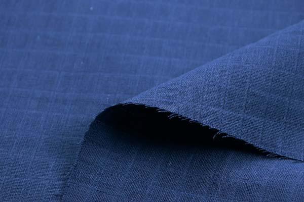 1cm角の格子ドビーダブルガーゼ 紺