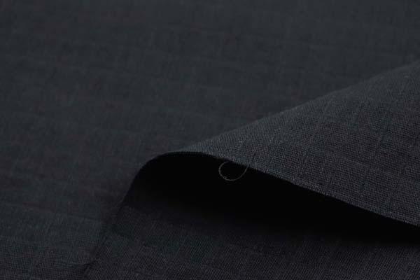 1cm角の格子ドビーダブルガーゼ 黒