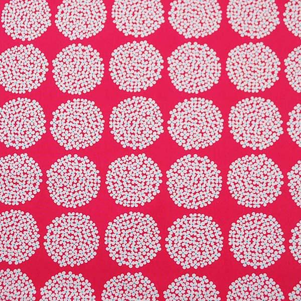 綿麻キャンバス あじさいプリント ピンク系