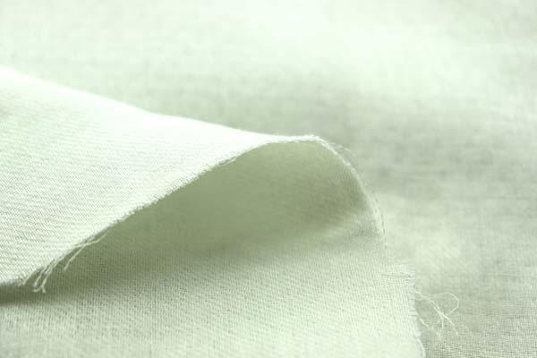 表綾織 裏平織の 60番手ダブルガーゼ ミント
