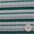 メッシュレースボーダープリント 白地×グリーン  【値打ち】 【50cm販売】  (4131-21)