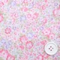コットンソフトローンプリント生地 小花柄 白地×ピンク・紫 (4132-11)