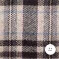軽量ウールのアンゴラ混チェック服地 ベージュ地×ピンク・ブルー 【お値打ち品】 【50cm販売】  (4135-38)