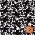 ケミカルレース服地 ブラック 【50cm単位】 《ニットではありません》  (4137-59)