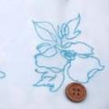 ボイルジャガードグリッターラメ生地 花柄 うすブルー地×ブルーラメ  (4138-06)