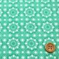 タイプラータークロスプリント服地 幾何柄 うすグリーン 《値打ち品》 (4138-16)