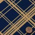 バスケットドビープリント服地 バイヤスチェック柄 紺地×オレンジ 《値打ち品》 (4138-29)