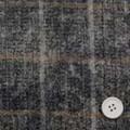 カモフラージュプリントとツイードチェックの接結服地 うすグレイ・黒×紺地チェック 【50cm販売】  (4139-40)