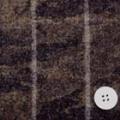 カモフラージュプリントとツイードチェックの接結服地 カーキ・黒×グレイ地チェック 【50cm販売】  (4139-41)