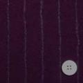 ウールガーゼストライプ服地 濃い紫 【50cm販売】  (4139-58)