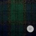 ラメチェックタータンウールビエラ服地 紺×緑 【50cm販売】  (4139-95)