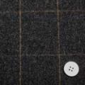 サキソニーフラノウインドペーン チャコールグレイ 【50cm販売】  (4140-03)