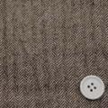 ストレッチワッシャーウールヘリンボーンツイード服地 茶 【50cm販売】  (4140-14)