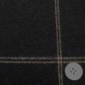 ウールウインドペーンツイード服地 黒 【50cm販売】  (4140-23)