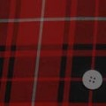 ウール混タータンチェック服地 赤×黒 【50cm販売】  (4140-52)