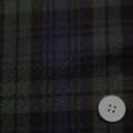 コットンウールウールタータンチェック服地 紺・グリーン 【50cm販売】  (4140-53)
