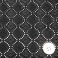 コットンローンレース服地(ニット生地ではありません) 黒 【50cm販売】  (l4140-95)